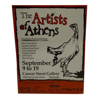 The Artists of Athens Carson Street Gallery Pittsburgh PA Poster