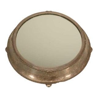 Antique Fenton Bros. Ltd English Silver Plated Mirror Plateau