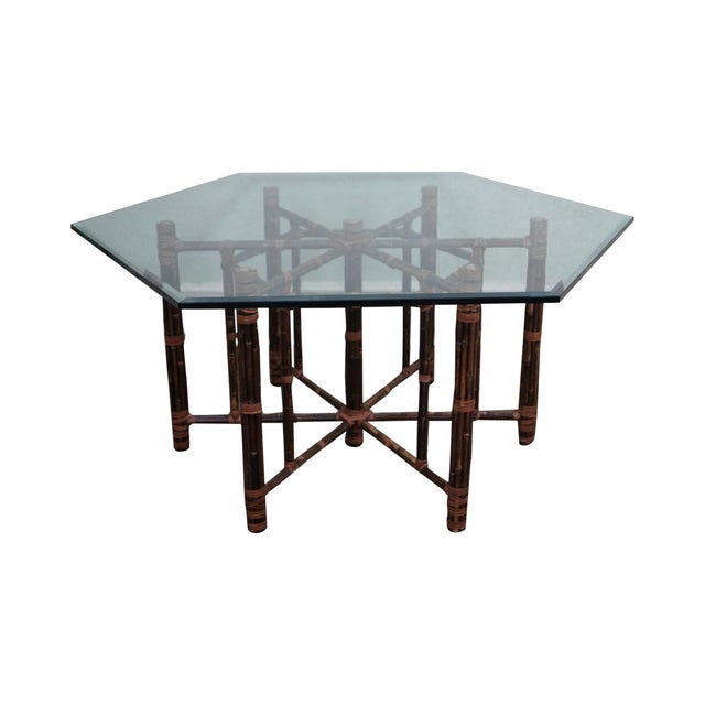 McGuire Rattan Dining Table - Image 1 of 10