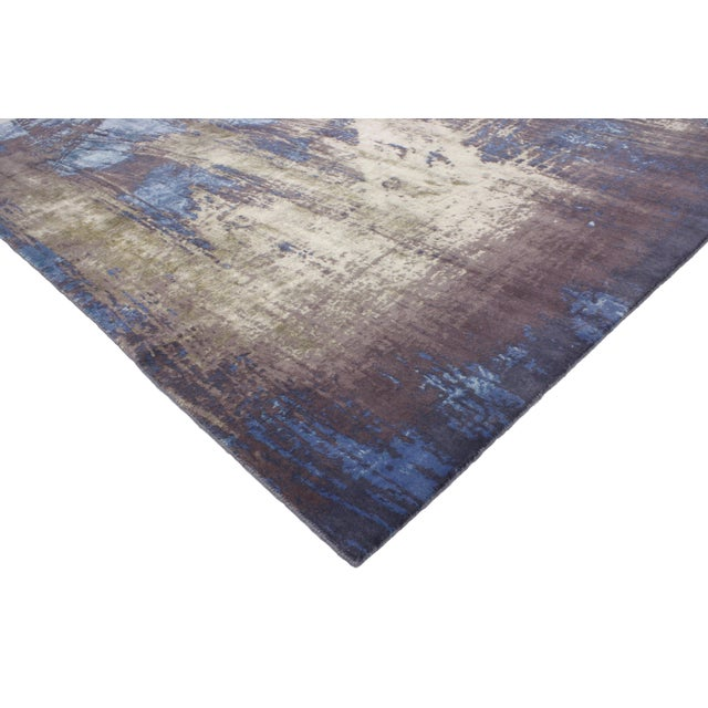 """Contemporary Abstract Scratch Texture Rug - 8'7"""" x 9'11"""" - Image 3 of 7"""