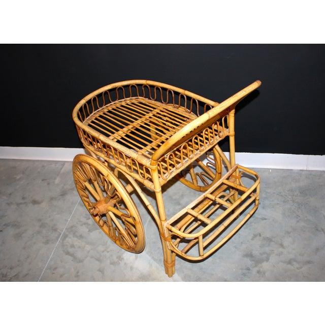Rattan Bar Cart - Image 5 of 10