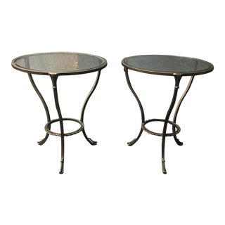 Kolkka Metal & Glass Side Tables - A Pair