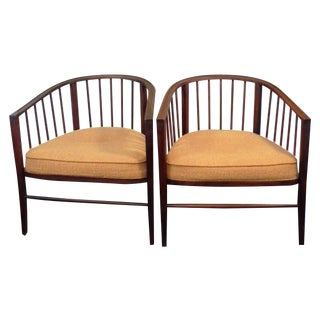 Mid-Century Slat Chairs - A Pair