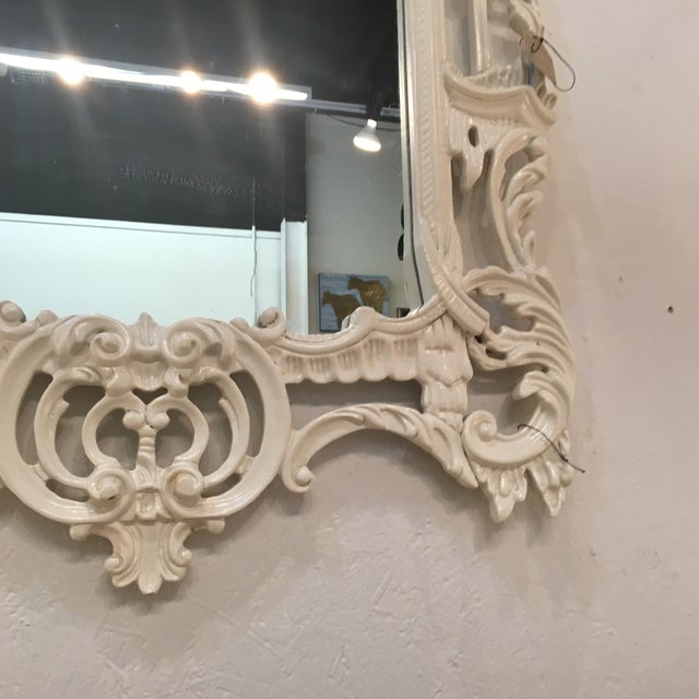 White Lacquered Labarge Pagoda Mirror - Image 3 of 7