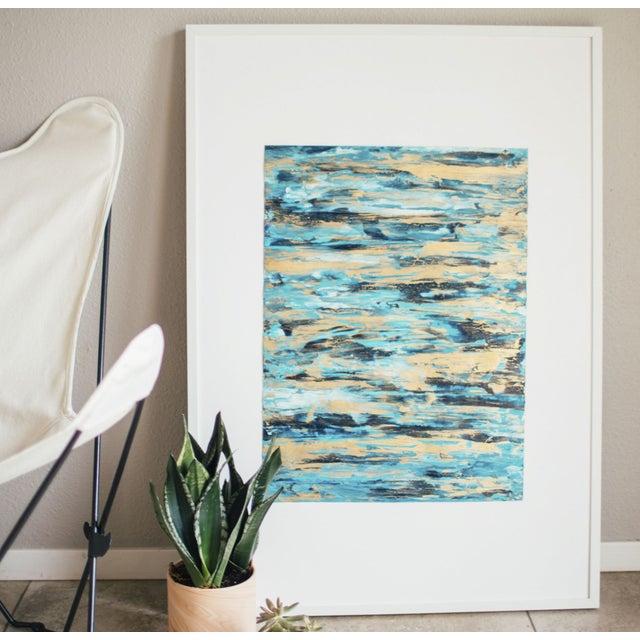 """Image of Framed Goldleaf on Paper Painting - 18"""" x 22"""""""