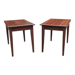 Shaker Style Cherry End Tables - A Pair
