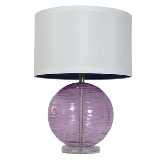 Lavender Murano Glass Table Lamp
