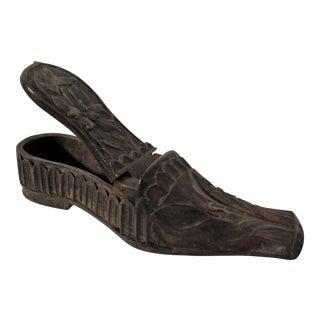 Antique Ladies Wood Snuff Shoe Box