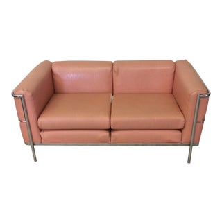 Chrome Cartwright Le Corbusier Style Love Seat