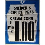 Image of 1950s Schneider's Vintage Grocery Poster