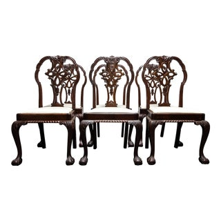 Georgian Revival Mahogany Dining Chairs - Set of Six