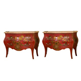 Maison Jansen Antique Chinoiserie Commodes - Pair
