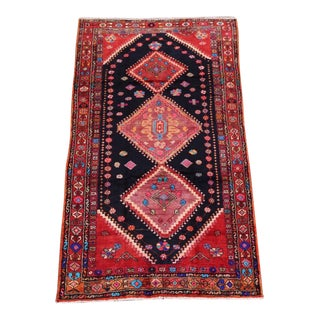 """Enchanted Moon"" Geometric Bakhtiari Persian Rug - 5′2″ × 9′1″"