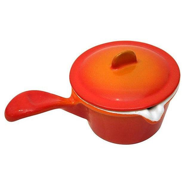 Image of Belgian Orange Desco Butter Warmer
