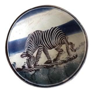 African Zebra Trinket Tray