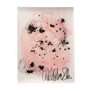 Light Pink with Black Splatter Painting, Unframed