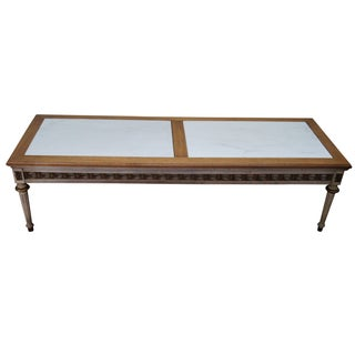 French Louis XVI Style Marble Top Coffee Table