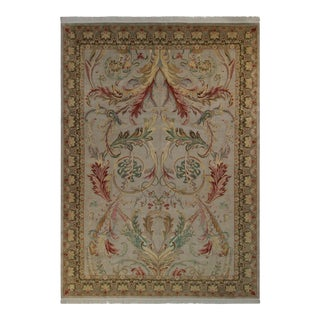 "Bhati Pak-Persian Lucia Lt. Gray/Green Wool Rug - 10'3"" X 14'4"""