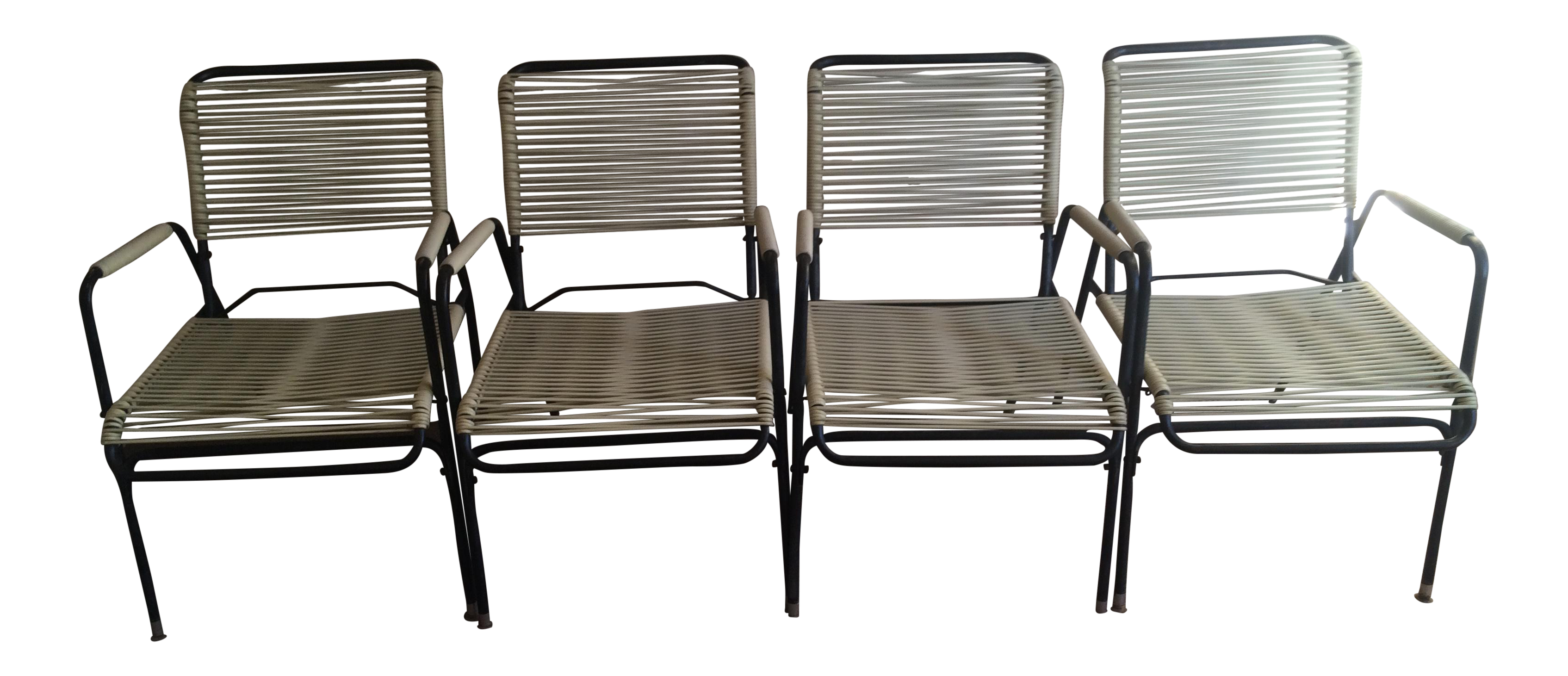 1960s Walter Lamb Style Outdoor Chairs   Set Of 4