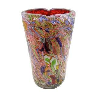 Anzolo Fuga Bisanzio Murano Venetian Glass Vase Mid Century Modern Millennial Pink