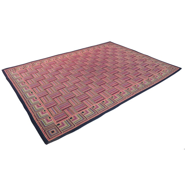 "Basket Weave Pattern Rug - 8'8"" x 10'3"" - Image 1 of 6"