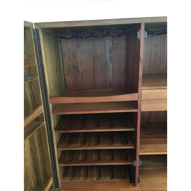 Clay Drying Cabinets ~ Pottery barn bar cabinet chairish