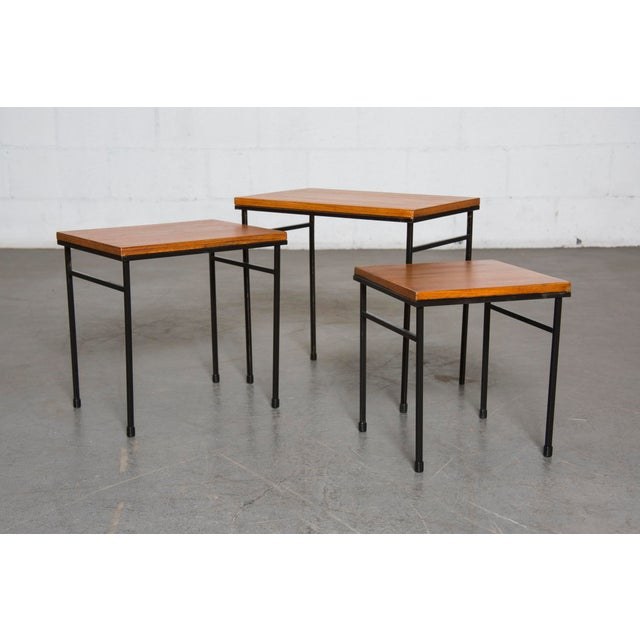 Image of Teak Nesting Side Tables - Set of 3