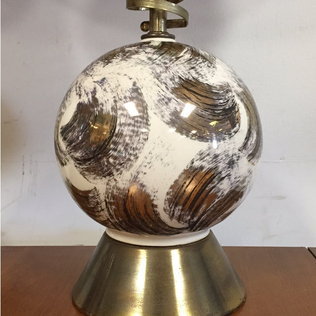 Mid Century Brass Corkscrew Table Lamps - A Pair - Image 7 of 10