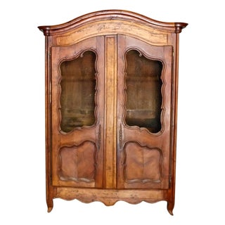 1800s French Antique Louis XV Armoire