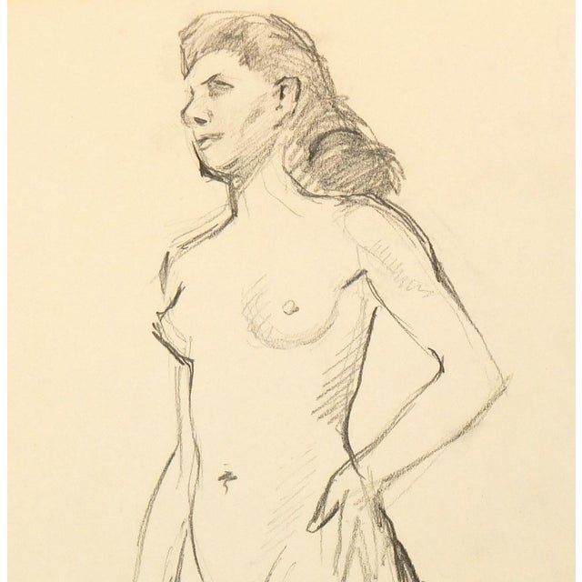 Nude Graphite Drawing by Jean Ernst, C. 1940 - Image 2 of 3