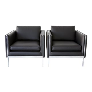 Set of Milo Baughman Lounge Chairs