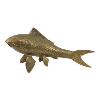 Hollywood Regency Era Brass Koi Fish