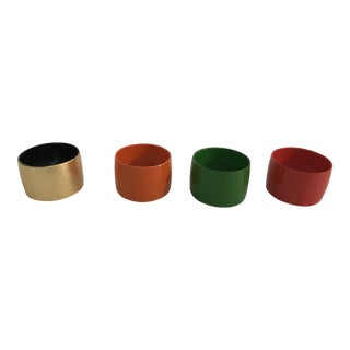 Vintage Napkin Rings - Set of 4