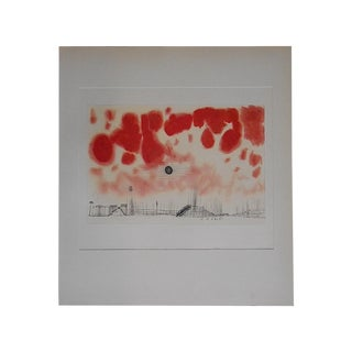 Vintage Mid 20th Century Abstract Lithograph