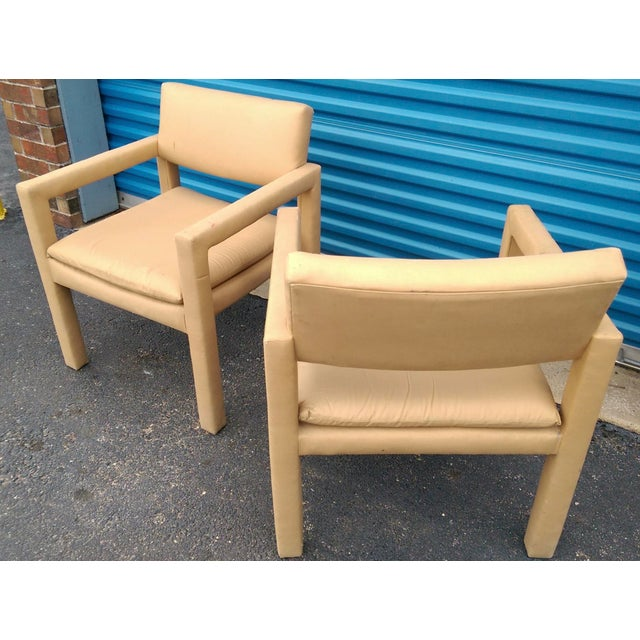 Milo Baughman & Thayer Coggin Parsons Arm Chairs - A Pair - Image 6 of 10