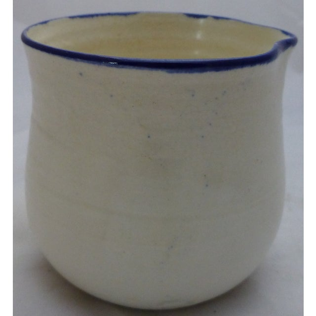 Mid-Century Blue and White Studio Pottery Beaker - Image 2 of 6