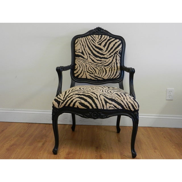 Louis XIV French Provincial Occasional Chair - Image 2 of 6