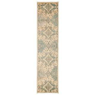 """Eclectic, Hand Knotted Runner Rug - 2' 6"""" X 10' 6"""""""