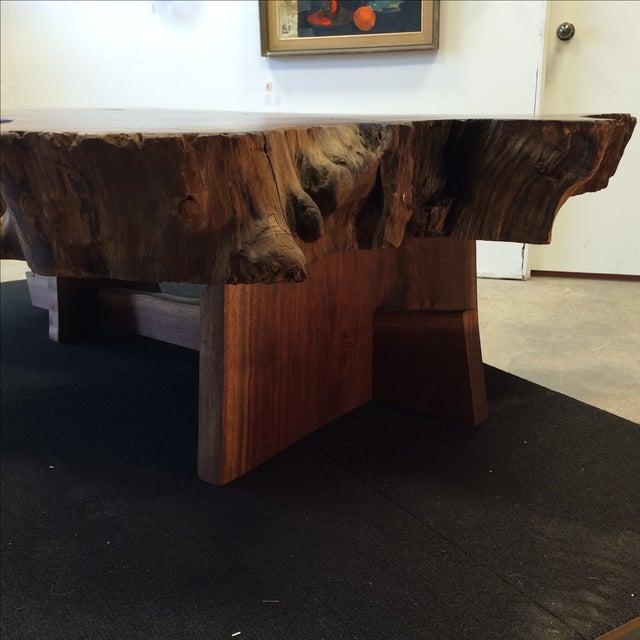 Redwood Tree Coffee Table: Nakashima-Style Live Edge Redwood Coffee Table