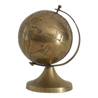 Miniature Brass Globe Figure
