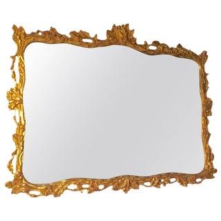 Large Horizontal Rectangular Rococo Giltwood Mirror