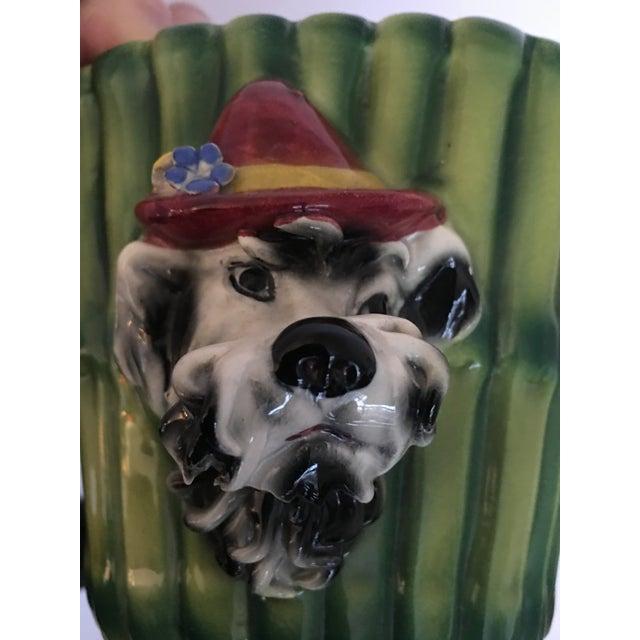 Italian Terrier Dog & Bamboo Wall Pockets - A Pair - Image 9 of 11