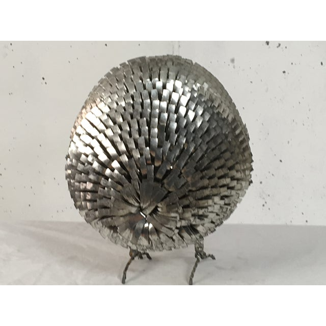 Brutalist Chrome Owl Attributed To Curtis Jere - Image 3 of 4