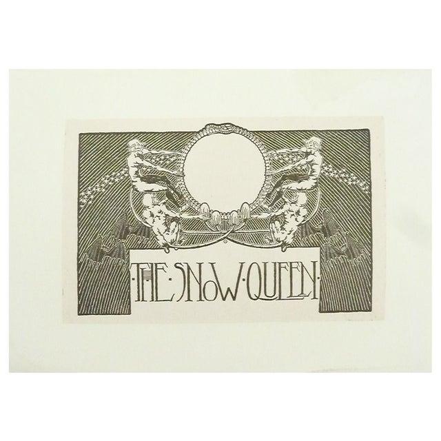 "Image of ""The Snow Queen"" Art Nouveau Lithograph"