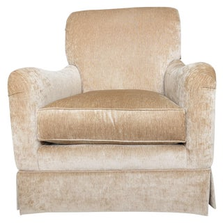 King Hickory Furniture Gold Fabric Chair
