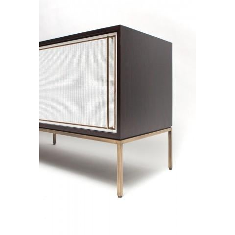 Customizable re: 379 Ebonized Walnut and Painted Cane Credenza - Image 3 of 3