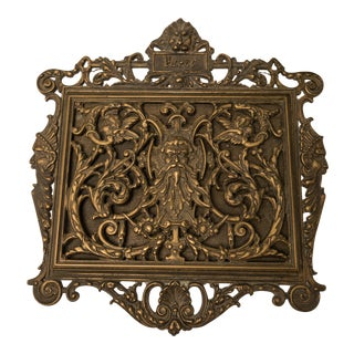 Italian Art Nouveau Bronze Letter Holder