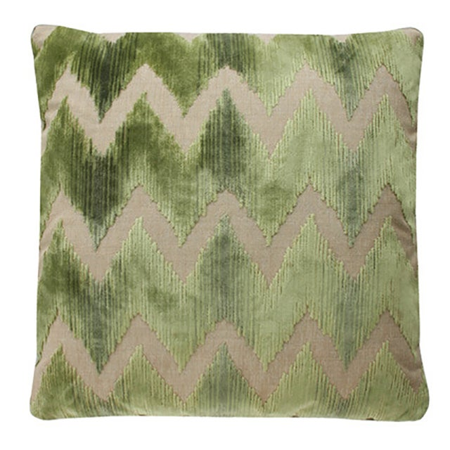 Lee Jofa Belgian Velvet Accent Pillows - a Pair - Image 1 of 3