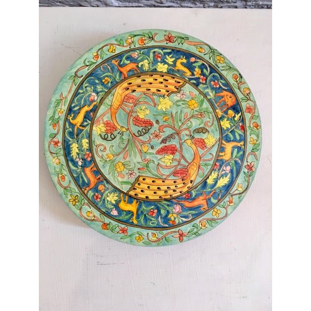 Hand-Painted Peacock Trivet - Image 2 of 6