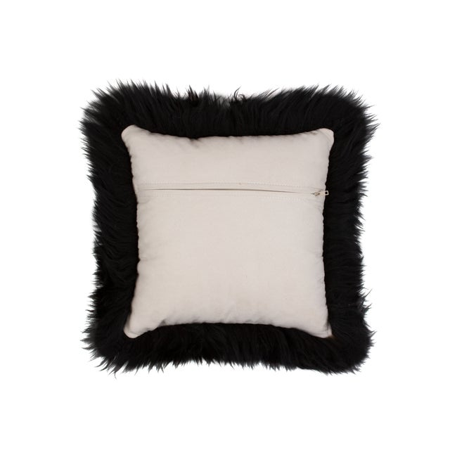 Black Sheepskin Pillow - Image 2 of 3